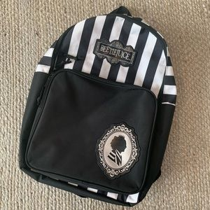RARE Beetlejuice Cameo Striped Backpack Book Bag